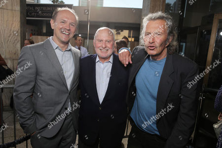 Producer Robert Kulzer, Executive Producer Michael Lynne and Executive Producer Bob Shaye seen at Screen Gems 'The Mortal Instruments: City of Bones' Los Angeles Premiere, on Monday, August, 12, 2013 in Los Angeles
