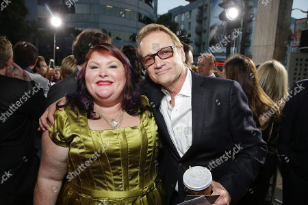 Novelist Cassandra Clare and Screen Gems' Clint Culpepper seen at Screen Gems 'The Mortal Instruments: City of Bones' Los Angeles Premiere, on Monday, August, 12, 2013 in Los Angeles