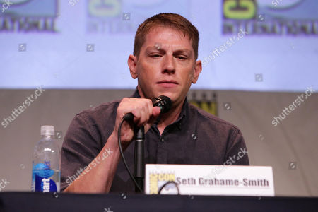 """Writer Seth Grahame-Smith seen at Screen Gems' """"Pride and Prejudice and Zombies"""" Presentation at 2015 Comic-Con, in San Diego"""