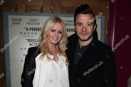 Shane Filan and wife Gillian Filan attends a screening of Inside Llewyn Davis at the Soho Hotel in London tonight. . credit: Jon Furniss