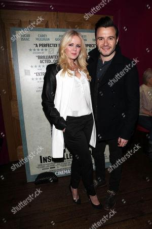 Shane Filan and wife Gillian Filan attend a screening of Inside Llewyn Davis at the Soho Hotel in London tonight. . credit: Jon Furniss