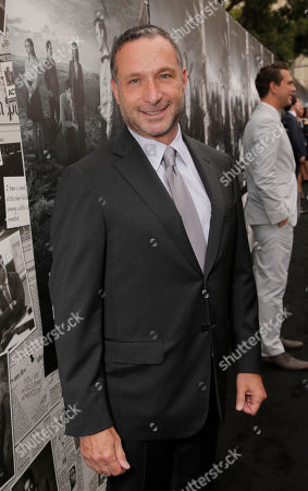 """Executive Producer Alan Poul arrive on the red carpet at the season 2 premiere of """"The Newsroom"""" at the Paramount Theater on in Los Angeles"""