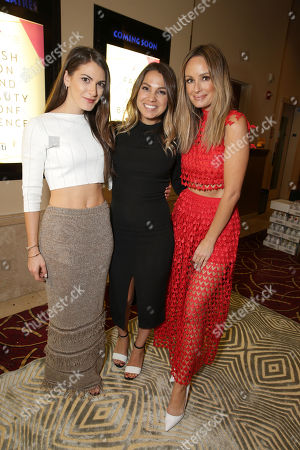 Lauren Gores, Simply Inc. Founder Sarah Boyd and Catt Sadler seen at Simply Stylist Los Angeles fashion and beauty conference presented by Citi and The Grove at, in Los Angeles, CA