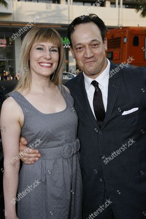 Stock Image of Suzanne Keilly and Ted Raimi