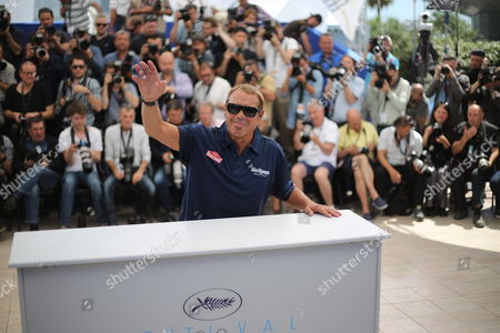 Producer Chad McQueen poses for photographers at the photo call for the screening of the film Steve McQueen : The Mans & Le Mans, at the 68th international film festival, Cannes, southern France
