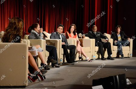"""NOVEMBER 1: (L-R) Paula Abdul, Kenny Ortega, Barrie Chase, Marguerite Derricks, Napoleon D'Umo, Tabitha D'Umo, Keith Young and Fred Tallaksen attend the Academy of Television Arts & Sciences Presents """"The Choreographers: Yesterday, Today & Tomorrow"""" at the Leonard H. Goldenson Theatre at the Academy of Television Arts & Sciences on in North Hollywood, California"""