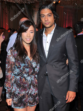 Helen Kim, let, and Abhi Sinha seen at the Television Academy's 66th Emmy Awards Dynamic and Diverse Nominee Reception at the Television Academy, in the NoHo Arts District in Los Angeles