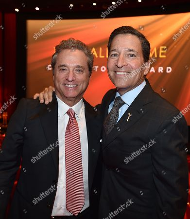Rick Rosen, Founding Member/Head of Television, WME, left, and Bruce Rosenblum, Television Academy Chairman and CEO, attend the Television Academy's 70th Anniversary Gala and Opening Celebration for its new Saban Media Center, in the NoHo Arts District in Los Angeles