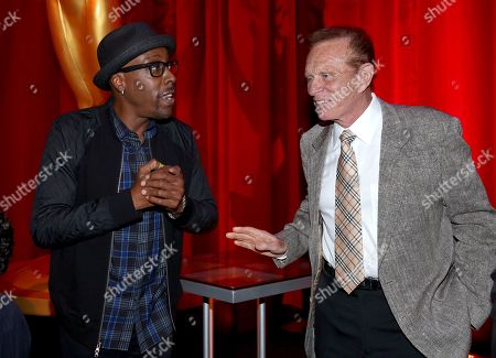 Stock Photo of Arsenio Hall, Bob Eubanks at the Television Academy's 70th Anniversary Gala and Opening Celebration for its new Saban Media Center, in the NoHo Arts District in Los Angeles