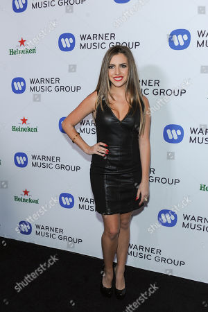 Stock Photo of Haley Pharo arriving to the 56th Annual GRAMMY Awards Warner Music Group After After Party on Sunday January 26,2104 in West Hollywood, Calif