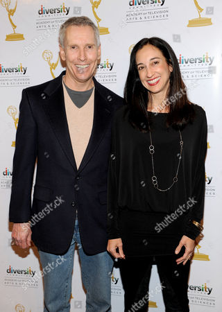 """FEBRUARY 15: Executive producers Paul Stupin and Lizzy Weiss arrive at The Academy of Television Arts & Sciences Diversity Committee and ABC Family Present """"Switched At Birth"""" Panel Discussion on in North Hollywood, California"""