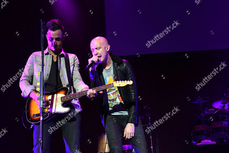 Joe King and Isaac Slade of The Fray performing as part of the Star 94 Jingle Jam 2013 at The Arena at Gwinnett Center, in Atlanta