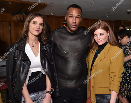 Jimmy Choo's Virginie Farre, and from left, Jason Rembert, and Erin Weigner attend The Hollywood Reporter & Jimmy Choo Celebration of the Most Powerful Stylists in Hollywood,, in West Hollywood, Calif