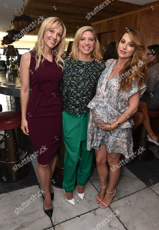 Tara Swennen, and from left, Petra Flannery and Jimmy Choo's Sara Riff attend The Hollywood Reporter & Jimmy Choo Celebration of the Most Powerful Stylists in Hollywood,, in West Hollywood, Calif
