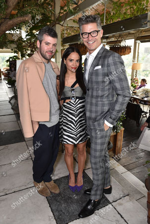 Stock Photo of Brandon Maxwell, and from left, Sophie Lopez, and Eric Rutherford attend The Hollywood Reporter & Jimmy Choo Celebration of the Most Powerful Stylists in Hollywood,, in West Hollywood, Calif