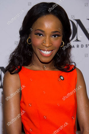 Valisia LeKae attends the 2013 Tony Awards Meet the Nominess press reception on in New York