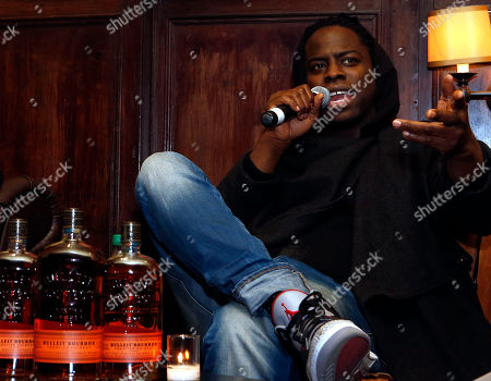 """Director Jeymes Samuel speaks during a Q & A session at the Bulleit Bourbon presents """"They Die By Dawn"""" film screening, in New York"""