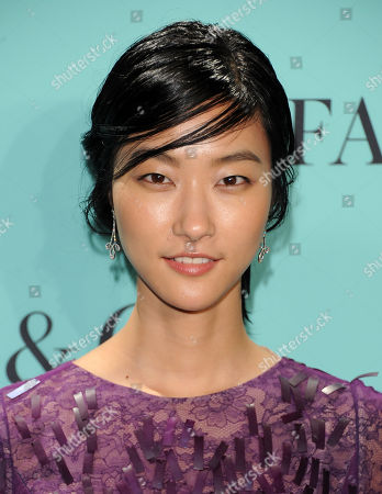 Stock Photo of Model Ji Hye Park attends the Tiffany & Co. Blue Book Ball at Rockefeller Center on in New York