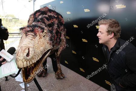 Skyler Stone seen at Twentieth Century Fox 'Walking with Dinosaurs', on Thursday, Dec, 12, 2013 in Los Angeles