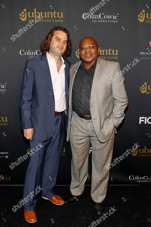 Founder and CEO of the Ubuntu Education Fund, Jacob Lief and Founder and Senior Advisor Ubuntu Education Fund, Banks Gwaxula seen at the Ubuntu Education Fund 15 Year Anniversary NYC Gala at Gotham Hall on in New York City