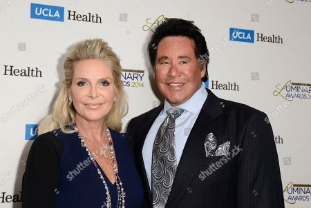 Singer and event host Wayne Newton, right, and his wife Kathleen McCrone arrive at the Luminary Awards benefiting the U.C.L.A Department of Head and Neck Surgery at the Beverly Wilshire Hotel on in Beverly Hills, Calif