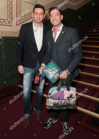 Craig Revel Horwood (right) and boyfriend Damon Scott attend the premiere of The Cirque du Soleil new show Quidam, at the Royal Albert Hall,, in London