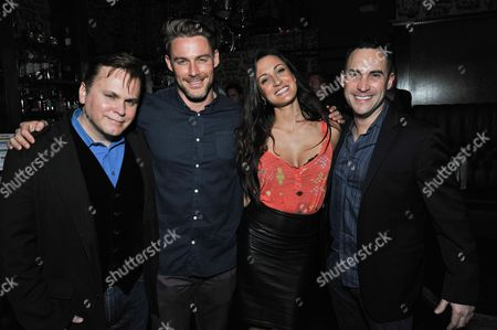 From left, Ross Raymond, Jessie Pavelka, Sitara Hewitt, and Patrick Raymond attend the Unlikely Heroes Spring Benefit event, in Los Angeles