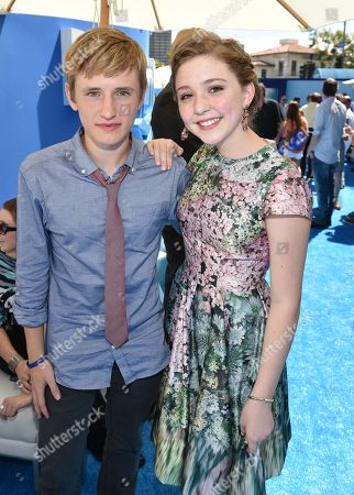 """Nathan Gamble and Cozi Zuehlsdorff seen at Warner Bros. Pictures' and Alcon Entertainment's """"Dolphin Tale 2"""" Los Angeles Premiere held at the Regency Village Theatre, Westwood, Calif"""