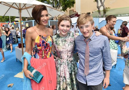 """Juliana Harkavy, Cozi Zuehlsdorff and Nathan Gamble seen at Warner Bros. Pictures' and Alcon Entertainment's """"Dolphin Tale 2"""" Los Angeles Premiere held at the Regency Village Theatre, Westwood, Calif"""