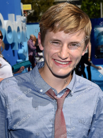 """Nathan Gamble seen at the Los Angeles Premiere of Warner Bros. Pictures' and Alcon Entertainment's """"Dolphin Tale 2"""" held at the Regency Village Theatre, Westwood, Calif"""