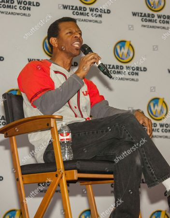 Stock Photo of Actor Phil Lamarr during the Wizard World Comic Con Fan Fest Chicago at the Donald E. Stephens Convention Center in Rosemont, IL on
