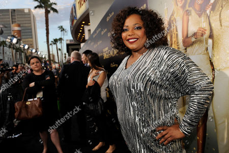 """Cocoa Brown arrives at the world premiere of """"The Single Moms Club"""",, in Los Angeles"""