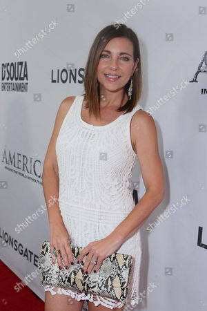 Stock Photo of Shari Rigby seen at the World Premiere of 'America: Imagine The World Without Her' at Regal Cinemas LA Live, in Los Angeles, CA