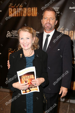 """From left, actors Juliet Mills and Maxwell Caulfield pose during the arrivals for the opening night performance of """"End of the Rainbow"""" at Center Theatre Group/Ahmanson Theatre on in Los Angeles, Calif"""