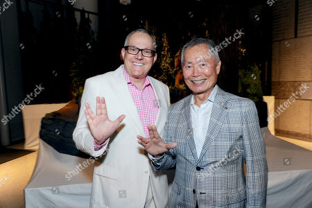 """Brad Takei and George Takei seen at """"Kubo and the Two Strings"""" George Takei Puppet Presentation at Japanese American National Museum, in Los Angeles"""
