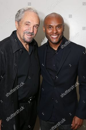 """From left, cast member Hal Linden and actor Kenny Lattimore pose backstage after the opening night performance of """"The Scottsboro Boys"""" at the Center Theatre Group/Ahmanson Theatre, in Los Angeles, Calif"""