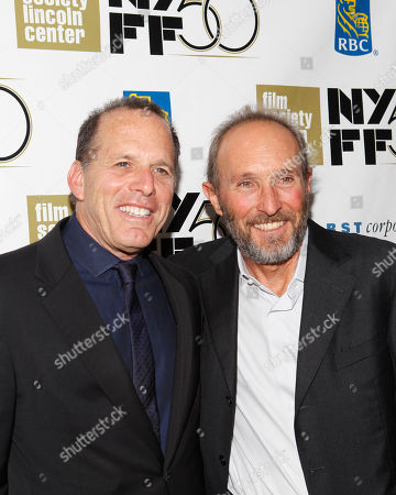 """Producers Jack Rapke, left, and Steve Starkey arrive for the premiere of the movie """"Flight"""" during the New York Film Festival, in New York"""