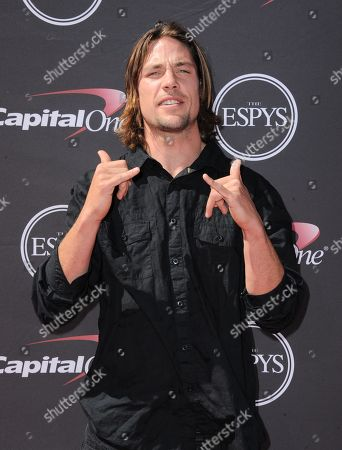 Stock Picture of Professional skier Rory Bushfield arrives at the ESPY Awards, at the Nokia Theater in Los Angeles