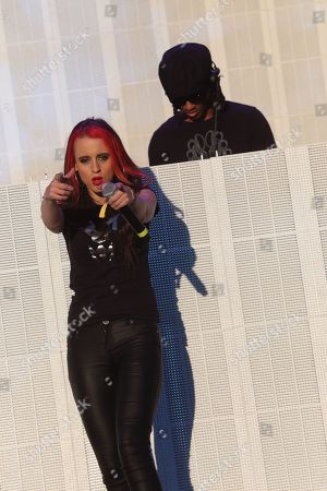 Stock Photo of Maxim of the Prodigy performs a solo set with Cianna Blaze on vocals on day 3 of the 2013 Voodoo Music + Arts Experience at City Park on in New Orleans Louisiana