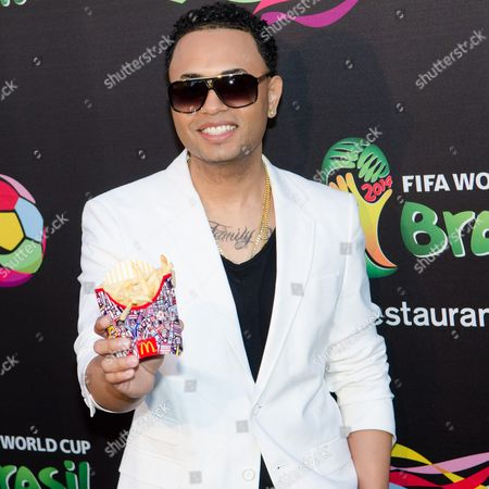 Toby Love attends the 2014 FIFA World Cup McDonald's Launch Party at Pillars, in New York
