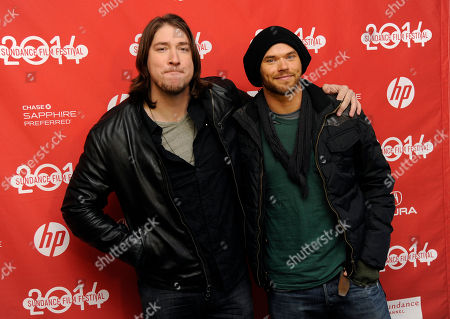 "Tanner Beard, left, a cast member in ""Hellion,"" poses with guest Kellan Lutz at the premiere of the film at the 2014 Sundance Film Festival, in Park City, Utah"