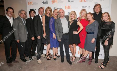 "Fox Searchlight's VP of Production David Greenbaum, Fox Searchlight President Steve Gilula, Executive Producer Nathan Ross, Director Jean-Marc Vallee, Laura Dern, Cheryl Strayed, Screenwriter Nick Hornby, Reese Witherspoon, Producer Bruna Papanderas, Fox Searchlight President of Production Claudia Lewis, Producer Bill Pohlad and Fox Searchlight President Nancy Utley attend the premiere of Fox Serachlight's ""Wild"" during the 2014 Toronto International Film Festival on in Toronto, Canada"