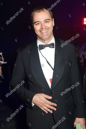 Milutin Gatsby attends the inaugural amfAR Hong Kong gala on in Hong Kong