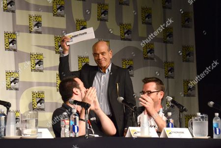 "Robert Picardo, producer Jason Blundell, and Craig Houston attend the ""Call of Duty Black Ops III: Zombie World"" panel on day 1 of Comic-Con International, in San Diego, Calif"