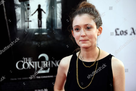 """Actress Hayley McFarland poses at the premiere of the film """"The Conjuring 2"""" during the Los Angeles Film Festival at the TCL Chinese Theatre, in Los Angeles"""