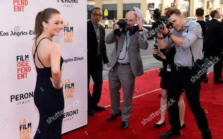 """Stock Image of Lauren Esposito, a cast member in """"The Conjuring 2,"""" poses at the premiere of the film during the Los Angeles Film Festival at the TCL Chinese Theatre, in Los Angeles"""