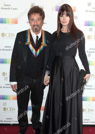 2016 Kennedy Center Honoree Al Pacino, left, and Lucila Sola attend the 39th Annual Kennedy Center Honors at The John F. Kennedy Center for the Performing Arts, in Washington, D.C