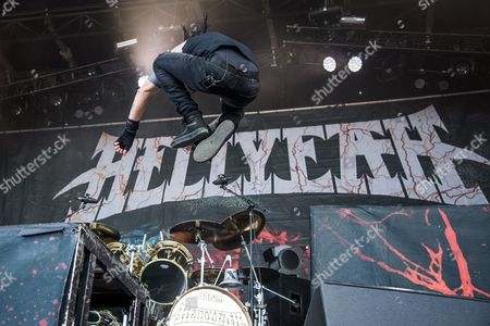 Chad Gray of HELLYEAH performs at the Louder Than Life Festival, in Louisville, Ky