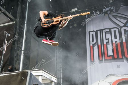 Jaime Preciado of Pierce The Veil performs at the Louder Than Life Festival, in Louisville, Ky