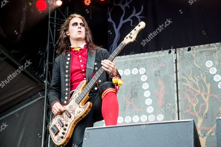Henrik Sandelin of Avatar performs at the Louder Than Life Festival, in Louisville, Ky
